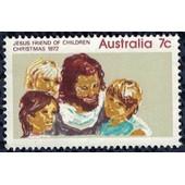 Australie 1972 Utilis� Used Jesus Friend Of Children Ami Des Enfants Sans Gomme