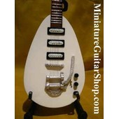 Guitare Miniature Rolling Stones * Brain Jones (White)