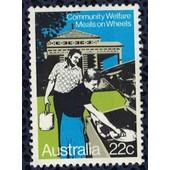 Australie 1980 Utilis� Used Community Welfare Meals On Wheels Portage De Repas Sans Gomme