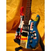 Guitare Miniature Red Hot Chili Peppers * Psycho Flea - Bass