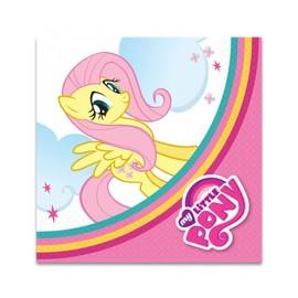 20 Serviettes En Papier Mon Petit Poney Tm 33 X 33 Cm