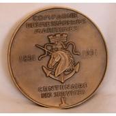 M�daille Compagnie Des Messageries Maritimes 1851 - 1951 Centenaire Des Services
