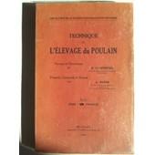 Technique De L'�levage Du Poulain de ZWAENEPOEL H.
