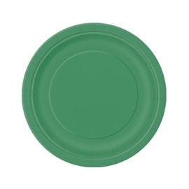 8 Assiettes En Carton Vert �meraude