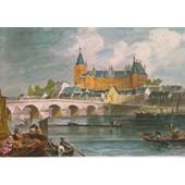 Gien : L'�glise Ste Jeanne D'arc, Le Ch�teau Et Le Pont Sur La Loire (Gravure Du 19e Si�cle) - 1977