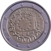 Euro - Pi�ce 2 Euros Comm�morative - 2015 - Belgique - 30 �me Anniversaire De L' Adoption Du Drapeau Europ�en