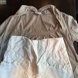 Lot Pantalon Colline Blanc Et Pull Balloon De Grossesse