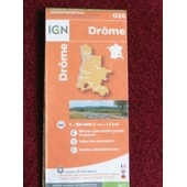 Carte Routi�re Drome 1/150 000 Ign de IGN