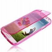 Etui Housse Coque � Rabats Souple Enveloppant Pour Samsung Galaxy S4 Mini I9190 I9195 - Rose