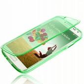 Etui Housse Coque � Rabats Souple Enveloppant Pour Samsung Galaxy S4 Mini I9190 I9195 - Vert Pomme