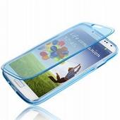 Etui Housse Coque � Rabats Souple Enveloppant Pour Samsung Galaxy S4 Mini I9190 I9195 - Bleu