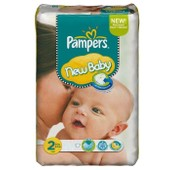 2x Pack 74 Couches Pampers New Baby