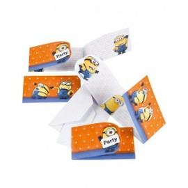6 Invitations Et Enveloppes Minions ?