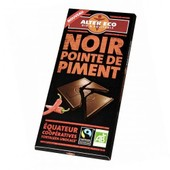 Alter Eco - Chocolat Noir & Pointe De Piment Bio Et �quitable 100 G - Origine : Equateur