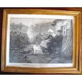 Tableau Encadr� Eau Forte De Charles Baude Et Mr Hirchfeld : La Cinquantaine - Vers 1880
