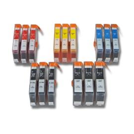 Lot De 15 Cartouches D'Encre Vhbw Pour Hp Hewlett Packard Photosmart B109e, B109f, B109g, B109n, B110 Comme Hp364xl, Hp920, Hp920xl.