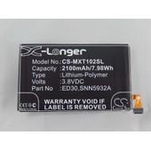 Vhbw Li-Polymer Batterie 2100mah (3.8v) Pour T?L?Phone, Smartphone Motorola Moto G, G 4g, G Forte Comme Ed30, Snn5932a.
