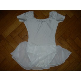 Body Justaucorps Repetto Blanc Taille 10 Ans
