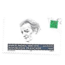 Timbre oblitéré de 1993,n°2802.Marcel Pagnol.