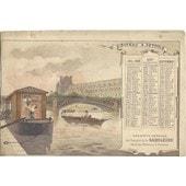 Bateau � P�trole + Calendrier 1896 Juillet Aout Septembre