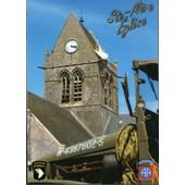 Militaria Ww2 - Cp - V�hicule Militaire Us � Sainte-M�re-Eglise