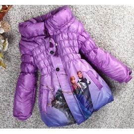Doudoune Manteau Princesse Elsa Anna Reine Des Neiges Frozen Taille 8 Ans Chaud Et Douillet