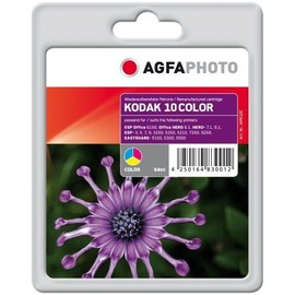 Agfaphoto - Couleur (Cyan, Magenta, Jaune) - Cartouche D'encre (�quivalent � : Kodak 10c ) - Pour Kodak Esp 3250, 52xx, 7, 7250, 9, 9250, Office 6150; Hero 6.1, 7.1, 9.1; Office Hero 6.1