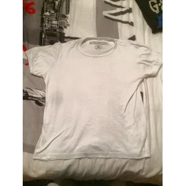 T-Shirt Crossby Blanc Col Rond