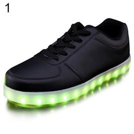 Unisexe Chaussures Led Sport Et Lumineux Avec Lacets