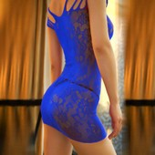 Femmes Sexy Robe R�sille Body Stocking Crotchless Mini Robe Lingerie De Nuit