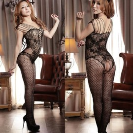 Sexy Bas R�sille Ouvert Entre Jambe Ensemble Lingerie Sexy R�sille Bodystocking Femmes