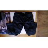 Pantalon Noir Teddy Smith Effet Cuir Vernis