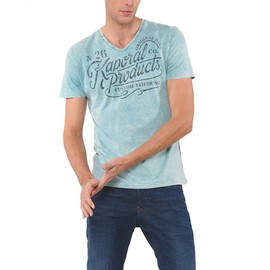 Kaporal - Homme - T-Shirt Homme Tazz Aqua Vintage Col V