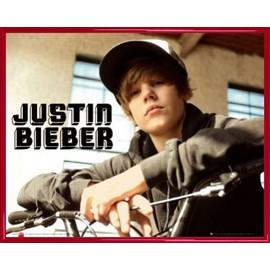 Mini Poster encadré: Justin Bieber - Bike, One Time (40x50 cm), Cadre Plastique, Rouge