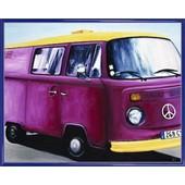 Poster Reproduction Encadr�: Voitures - Minibus Vw, Aviva Brooks (40x50 Cm), Cadre Plastique, Bleu