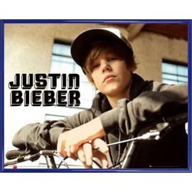 Mini Poster encadré: Justin Bieber - Bike, One Time (40x50 cm), Cadre Plastique, Bleu