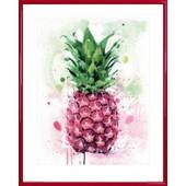 Poster Reproduction Encadr�: Cuisine - Ananas Tropical, James Paterson (50x40 Cm), Cadre Plastique, Rouge