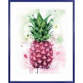 Poster Reproduction Encadr�: Cuisine - Ananas Tropical, James Paterson (50x40 Cm), Cadre Plastique, Bleu