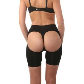 Maboobie Taille S/M Femme Sexy Culotte Fendue Sculptante Remonte Fesse Push Up Lingerie Slip Boxer Gaine Serre Taille Minceur Fitness Hanche Effet Ventre Plat