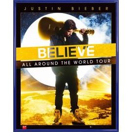 Mini Poster encadré: Justin Bieber - Believe, All Around The World Tour (50x40 cm), Cadre Plastique, Bleu