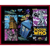Mini Poster Encadr�: Doctor Who - Comic Layout (40x50 Cm), Cadre Plastique, Rouge