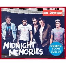 Mini Poster encadré: One Direction - Midnight Memories (40x50 cm), Cadre Plastique, Rouge