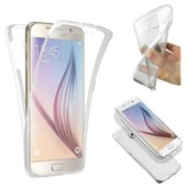 Coque Silicone Gel Int�gral Samsung Galaxy S6 Edge Transparent