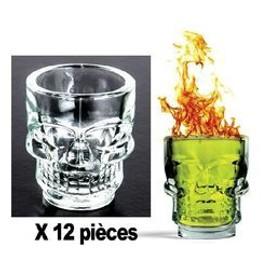 12 Verres Shooter Skull 40 Ml
