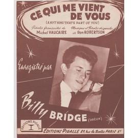 """billy bridge ce qui vient de vous"""""""