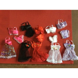 Lot De 5 Ensembles Sous Vetements 3 Pieces Pour Poupee Barbie