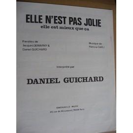 ELLE N'EST PAS JOLIE Daniel Guichard