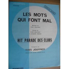 Les Mots qui font mal   Yves Jouffroy