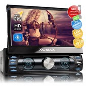 Autoradio 1din 18cm Touchscreen Navi Gps Bluetooth Xm-Vrsun729 / Bluetooth + 18cm Lcd Touchscreen + Support 128gb + Usb + Microsd + Mpeg4 + Divx + Mp3 + Jpeg +...