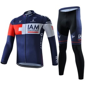 Iam Maillot De Cyclisme Manches Longues + Cuissard V�lo 2016